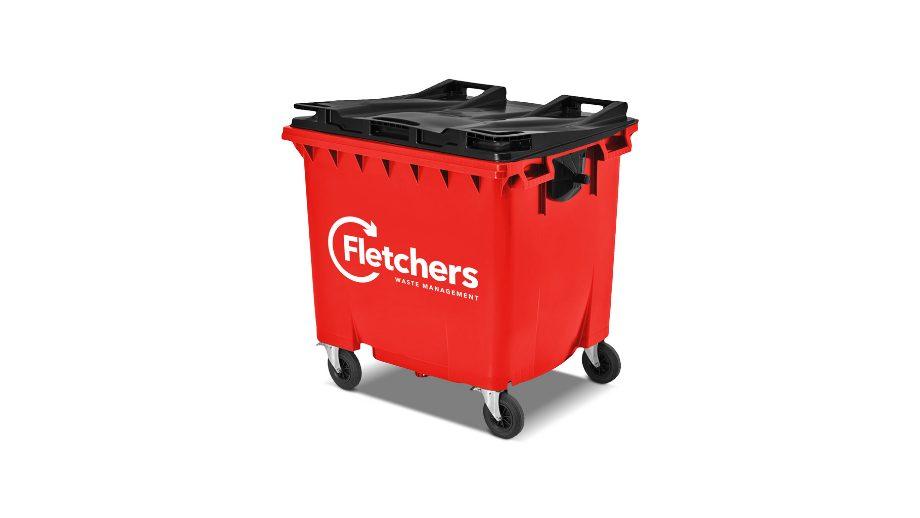 Fletchers wheelie bin