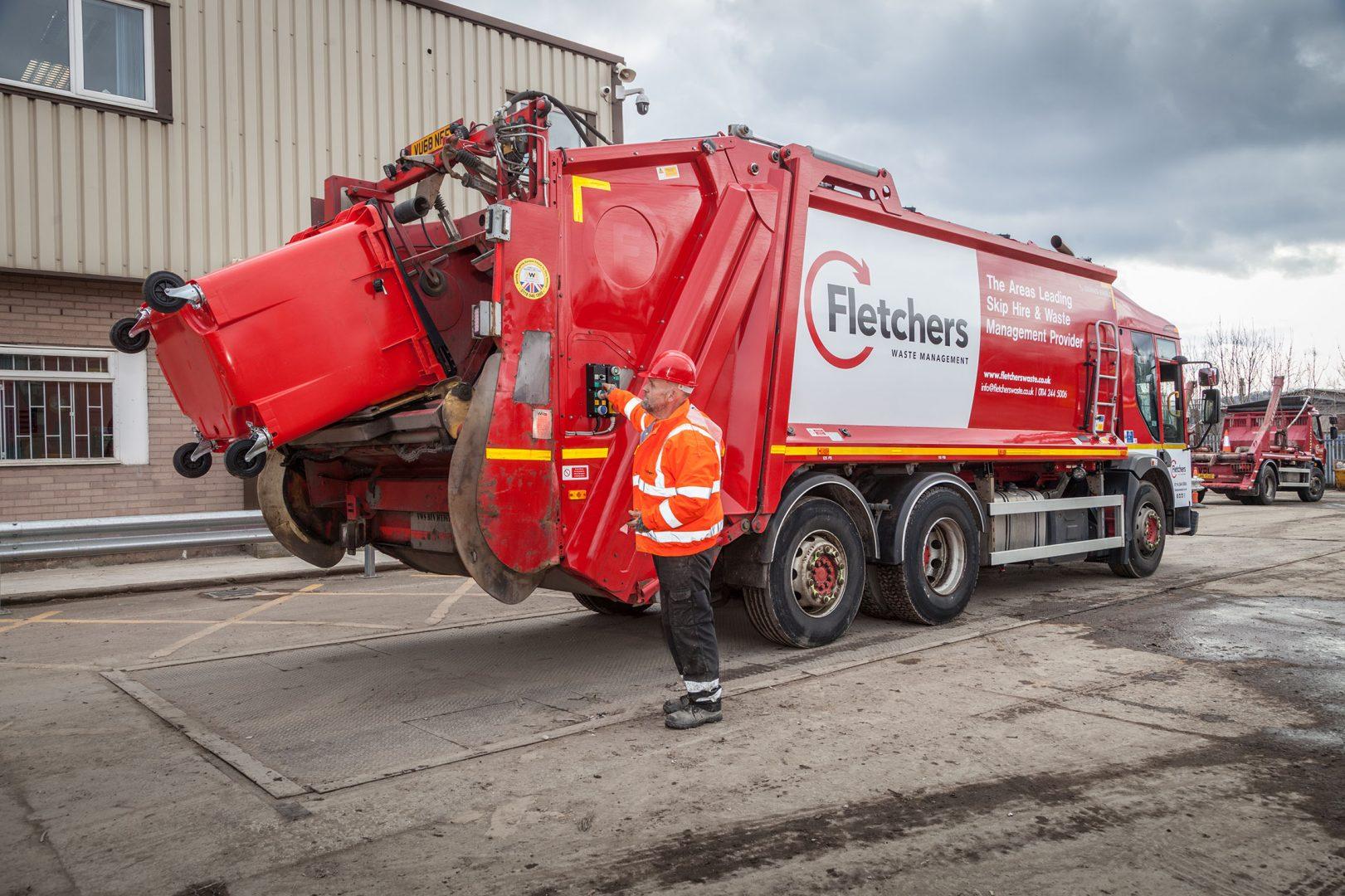 Fletchers waste commercial bin hire wagon