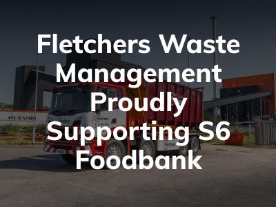 text image fletchers waste management supporting food bank