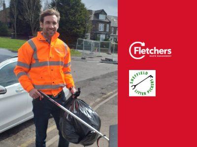 Freddie Ward litter picking