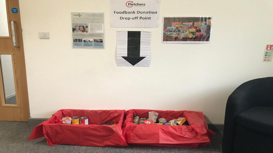 Picture of Fletchers Waste food bank contributions