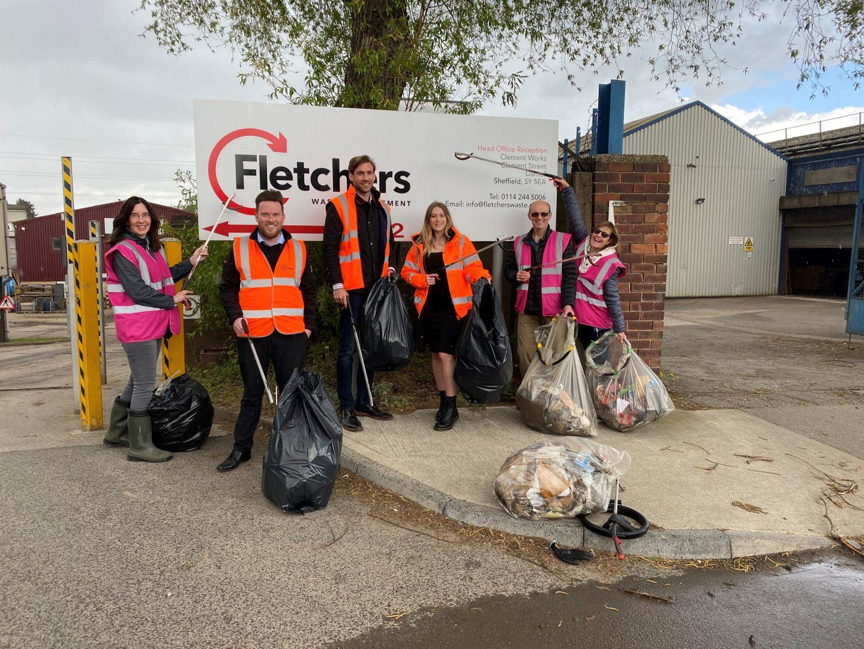 Fletchers Waste with Sheffield Litter Pickers